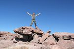 Roger J. Wendell on the summit of Kings Peak, Utah - 09-22-2011