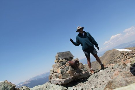 Roger J. Wendell self-portrait via radio control on Wheeler Peak, New Mexico, 13161 ft (4011 m) - 06-10-2011