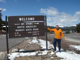 Roger J. Wendell on the road to Mount Evans, Colorado - 05-16-2009