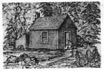 Thoreau's One Room Cabin on Walden Pond