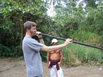Graham Uses the Blowgun - Ecuador, January 2006