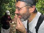 Roger J. Wendell eating ants - Amazonia, Ecuador, January 2006