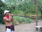 Shacay Demonstrates the Blowgun - Ecuador, 2006