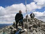 Roger and the 14,267 Foot J Pole on Torreys Peak! - August 14, 2005