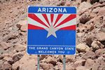 Arizona Welcome at Hoover Dam by Roger J. wendell - 05-03-2014