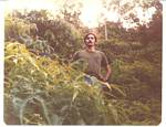 Roger J. Wendell in the Rainforest that surrounded NMO - May 1976
