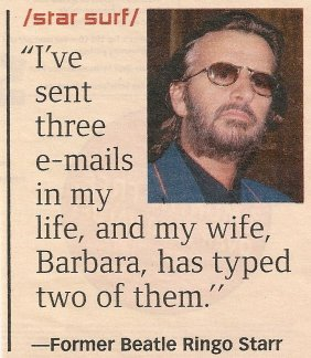 Ringo Starr Email - August 2000