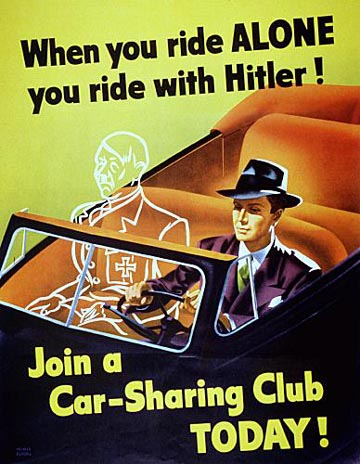 WWII Poster - Ride With Hitler