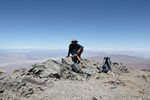 Roger Wendell on top of Telescope Peak in Death Valley National Park by Roger J. Wendell - 06-07-2011