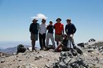 Roger Wendell, Jeff, Anrea, Wes, Ken, and Caroline on top of Telescope Peak in Death Valley National Park by Roger J. Wendell - 06-07-2011