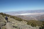 Ken heading down from Telescope Peak in Death Valley National Park by Roger J. Wendell - 06-07-2011