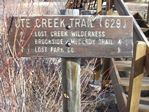 Ute Creek Trailhead, Lost Creek Wilderness, Colorado by Roger J. Wendell - 11-11-2011