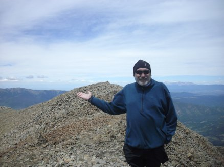 Roger J. Wendell on top West Spanish Peak - 07-12-2015