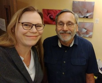 Susi Snyder and Roger J. Wendell at KGNU - 04-13-2018