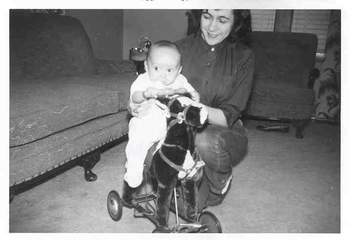 Me and Mom in February of 1956