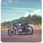 Roger J. Wendell's 1972 Honda CL 450 in Hawaii - January 1976