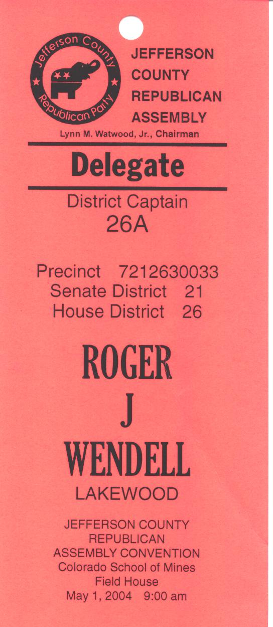 Republican County Assembly Delegate