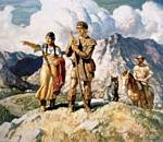 Sacajawea with Lewis and Clark