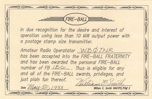 Fire-ball Fraternity Number 186 Roger J. Wendell, 05-20-1993