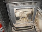 Pellet stove in cabin near Marble, Colorado on 02-26-2011