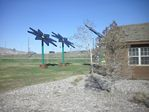 Solar Flowers at the Parachute, Colorado Rest Area by Roger J. Wendell - 04-21-2011