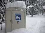 Backcountry toilet at Jim Creek near Winter Park, Colorado by Roger J. Wendell - 12-18-2010