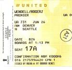 United Airline Premier Status for Roger J. Wendell - 2008