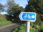 United Kingdom Bicycle Sign - October 2006