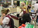 Check-out Clerks Sit down in Stores in the United Kingdom - October 2006
