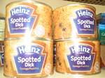 Spotted Dick (steamed suet pudding) in the United Kingdom - October 2006
