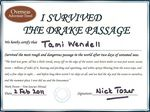 Tami Wendell survived the Drake Passage - 02-02-2011